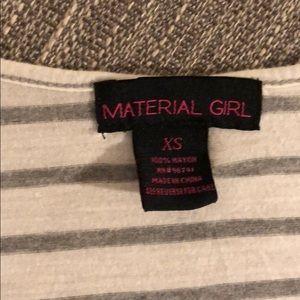 Material Girl Tops - Material Girl Stripe Crop T-shirt